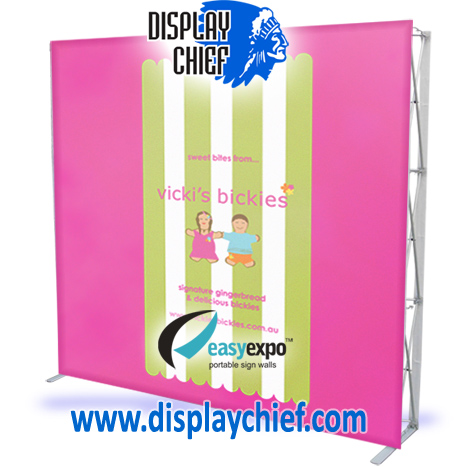 Great looking portable pop up wall PINK