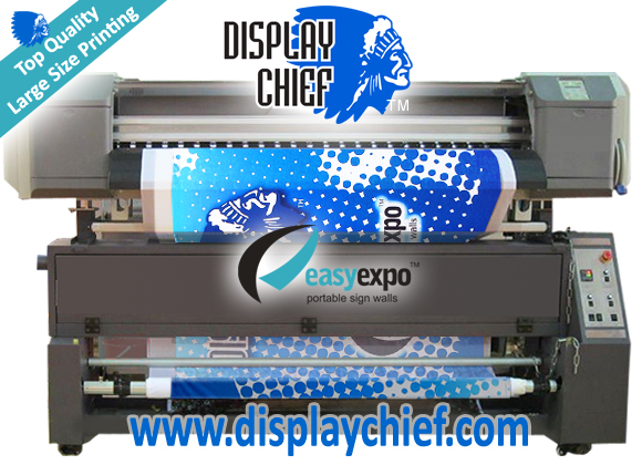 Sign Printing Machine and Pop Up Wall Printer, Displays come alive with large format high vibrancy sign banner printing