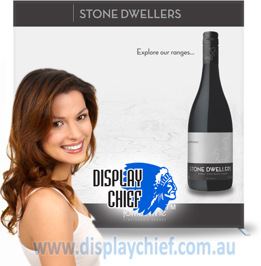Wine Expo Australian Upright Free Standing Sign Display System